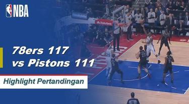 Jimmy Butler mencetak 32 poin, enam rebound, dan enam assist saat Philadelphia 76ers mengalahkan Detroit Pistons 117-111.