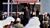 Presiden SBY menjadi inspektur upacara peringatan Hari Kesaktian Pancasila di Monumen Lubang Buaya, Jakarta, (1/10/14). (Liputan6.com/Johan Tallo)