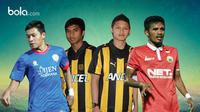 Alfin Tuasalamony, Syamir Alam, Reffa Money, dan Yericho Christiantoko (bola.com/Rudi Riana)