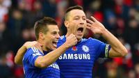 Cesar Azpilicueta berniat gantikan peran John Terry di Chelsea. (AFP/Paul Ellis)