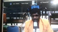 Sidang dugaan makar aktivis dan mahasiswa Papua dilakukan secara daring. (Foto: Liputan6.com/Abelda Gunawan)