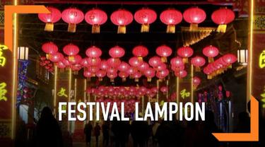 Dalam merayakan musim semi dan juga tahun baru Imlek, China menggelar festival lampion. Lihat keindahannya!