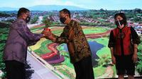 Pengembang properti Agung Podomoro Group (APG) memperkenalkan proyek terbarunya, yakni Kota Mandiri dan Satelit Baru Kota Podomoro Tenjo. Dok APL