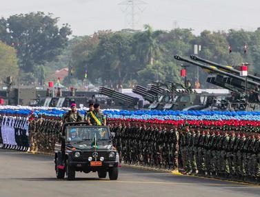 Ribuan Pasukan Ikuti Gladi Bersih HUT ke-74 TNI