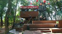 Arborea Cafe yang berada di hutan kota Jakarta. (Liputan6.com/Dinny Mutiah)