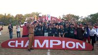 Bank Sulselbar FC jadi juara Liga Pelajar U-16 zona Sulawesi Selatan 2018. (Bola.com/Abdi Satria)