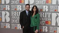 Frank Lampard dan Christine Bleakley. (AFP/Niklas Halle'n)