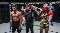 Rudy Agustian (kanan) siap tampil di ajang ONE: Call to Greatness di Singapura, akhir pekan ini. (ONE Championship)
