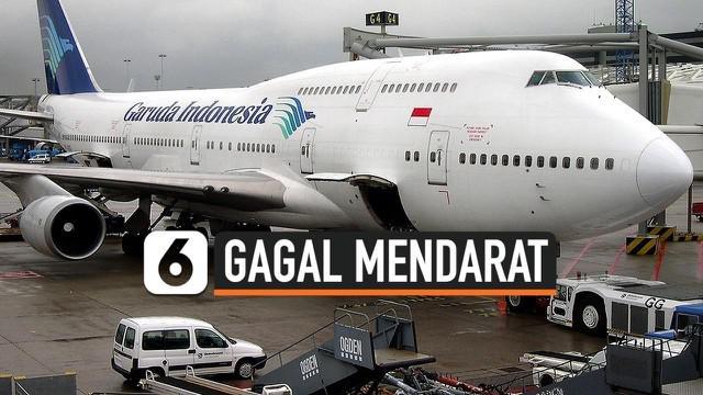 Dua pesawat milik maskapai Garuda Indonesia dan Lion Air dikabarkan gagal mendarat di Bandara Supadio, Pontianak, Kalimantan Barat pada Rabu (13/1) sore akibat cuaca buruk.