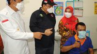 Kabupaten Cilacap menjadi daerah dengan transaksi vaksin tertinggi menurut data Dirjen Pencegahan dan Pengendalian Penyakit Kementerian Kesehatan (P2P Kemenkes) Republik Indonesia. (Liputan6.com/Pemkab Cilacap)
