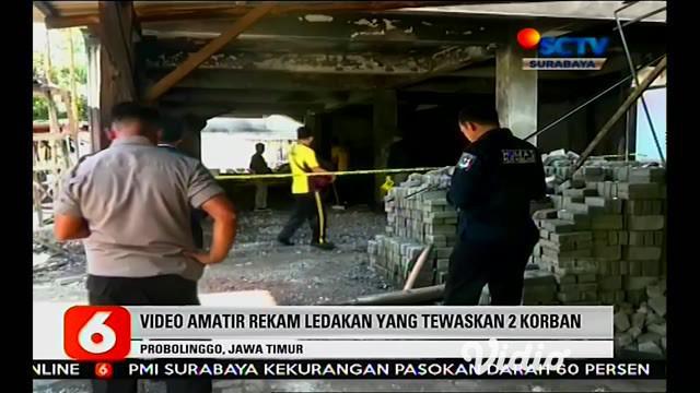 Video amatir rekam ledakan yang tewaskan 2 korban, ledakan tersebut diduga dari drum BBM yang tersimpan di gudang ruko.