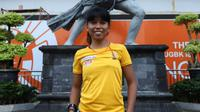 Mathilda Dwi Lestari, pendaki seven summits, bicara soal langkah tepat dalam keadaan darurat seperti menghadapi gempa bumi di Gunung Rinjani, Lombok, NTB. (Dery Ridwansah/JawaPos.com)