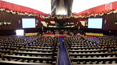 Gedung Parlemen bersolek jelang Pidato Kenegaraan Presiden