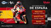 Streaming MotoGP Series Spanyol Hanya di FOX Sports 2. (Sumber : dok. vidio.com)
