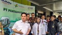 Erick Thohir kunjungi RS Pertamedika cek kesiapan fasilitas medis. (Liputan6.com/Athika Rahma)