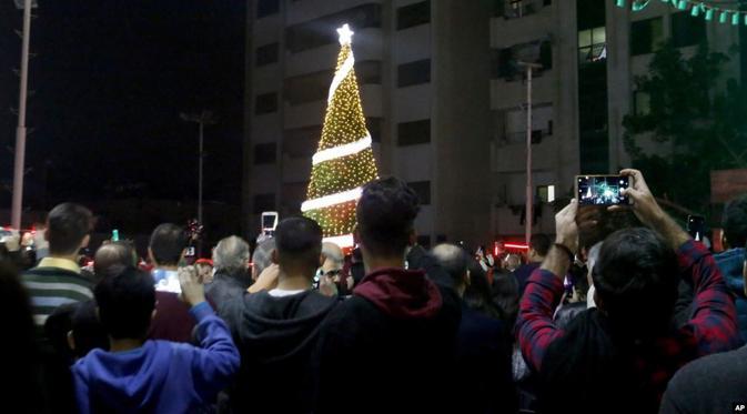 Perayaan Natal 2019 di Gaza. Dok: AP
