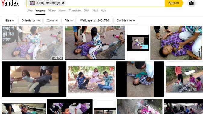 Cek Fakta Liputan6.com menelusuri klaim video korban virus corona berjatuhan di India