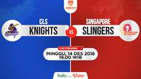 Jadwal ABL, CLS Knights Vs Singapore Slingers. (Bola.com/Dody Iryawan)