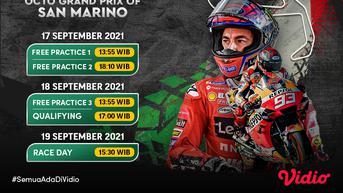 Jangan Ketinggalan, Link Live Streaming MotoGP San Marino 2021 di Vidio Pekan Ini
