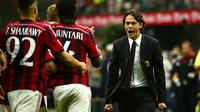 Pelatih AC Milan Pippo Inzaghi (Oliver Morin/AFP)
