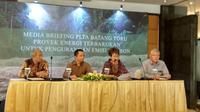 Media Briefing PLTA Batang Toru Proyek energi Terbarukan untuk Pengurangan Emisi Karbon. (Maulandy/Liputan6.com)