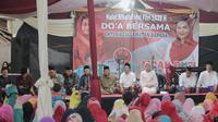 Ribuan muslimat Kota Surabaya Barat deklarasi untuk memenangkan Calon Gubernur Gus Ipul dan Calon Wakil Gubernur Puti Guntur Soekarno. (Liputan6.com/Dian Kurniawan)