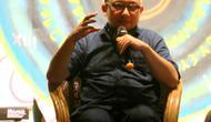 Penyidik Komisi Pemberantasan Korupsi (KPK) Novel Baswedan berbagi cerita tentang kondisi matanya.(Liputan6.com/Novia Harlina)