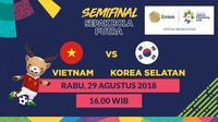 Semifinal Sepak Bola Asian Games 2018, Vietnam vs Korea Selatan. (Bola.com/Dody Iryawan)