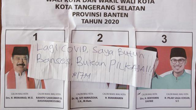 7 Catatan dan Foto Nyeleneh Pemilih di Surat Suara Pilkada 2020