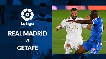 Berita motion grafis statistik Real Madrid vs Getafe pada lanjutan La Liga 2019-2020 pekan ke-33.