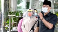 Gubernur Jawa Barat Ridwan Kamil di Grand Asrilia Hotel, Kota Bandung, Senin (28/6/2021). (Foto: Yogi P/Biro Adpim Jabar)
