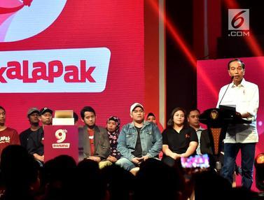 Presiden Jokowi Hadiri HUT ke-9 BukaLapak