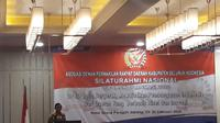 Mahfud Md menjadi pembicara di Asosiasi DPRD Seluruh Indonesia di Hotel Paragon, Jakarta, Senin (24/2/2020). (Liputan6.com/Putu Merta Surya Putra)