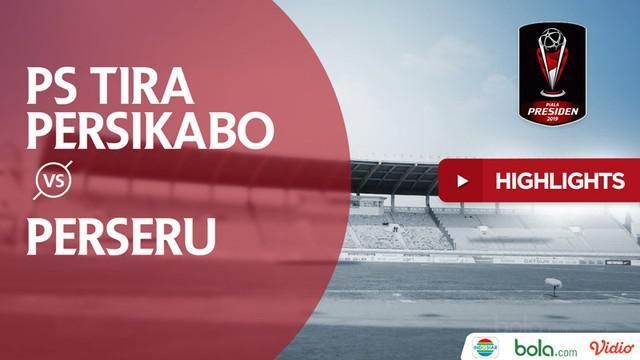 Berita video highlights Grup A Piala Presiden 2019 antara PS Tira Persikabo melawan Perseru Serui yang berakhir dengan skor 3-2 di Stadion Si Jalak Harupat, Kamis (7/3/2019).