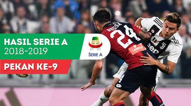 Berita video hasil Serie A 2018-2019 pekan ke-9. Genoa tahan Juventus 1-1 di Allianz Stadium, Sabtu (20/10/2018).