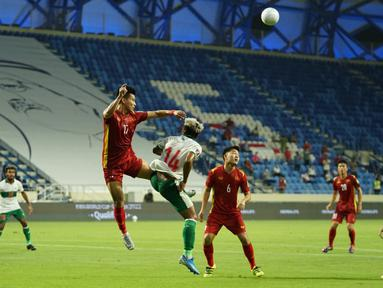 Timnas Indonesia gagal mengulang penampilan apik saat melawan Thailand di laga sebelumnya saat dibantai Vietnam 0-4 pada matchday ketujuh Grup G Kualifikasi Piala Dunia 2022 Zona Asia di Al Maktoum Stadium, Dubai, Uni Emirat Arab (UEA), Senin (7/6/2021) malam WIB. (Foto: Dok. PSSI)