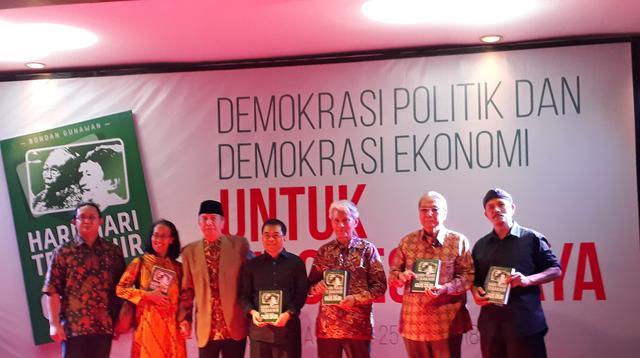Peluncuran buku karya Bondan Gunawan di Museum Nasional, Jakarta, Rabu (25/7/2018). (Liputan6.com/Yunizafira Putri Arifin Widjaja)