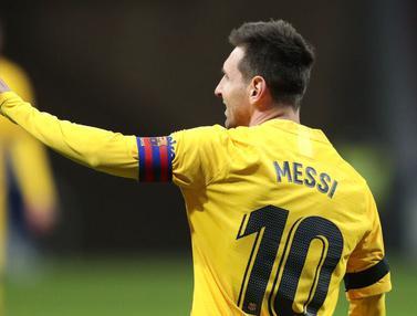 Foto Liga Spanyol: Lionel Messi Tak Berdaya, Barcelona Dibungkam Atletico Madrid