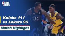 Berita video highlights NBA 2020/2021 antara New York Knicks melawan LA Lakers yang berakhir dengan skor 111-96, Selasa (13/4/2021) pagi hari WIB.