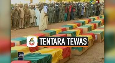Pemerintah Mali mengadakan upacara pemakaman untuk 30 tentara yang tewas minggu ini. Diketahui, tentara tewas karena bentrokan dengan kaum ekstremis di dekat perbatasan dengan Nigeria.