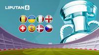 Banner Perempat Final / 8 Besar Euro 2020 / Euro 2021 (Liputan6.com/Abdillah)