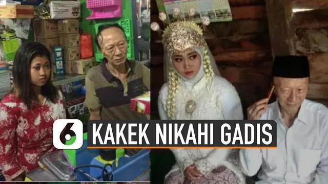 Terlihat momen romantis saat kakek Koh Acek Ayong menyuapi makanan ke Lithika Al Gandis yang sudah menjadi istrinya.