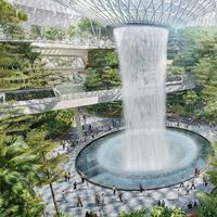HSBC Rain Vortex di New Jewel Changi Singapura. (Creative Commons)