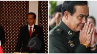 Presiden Jokowi dan PM Thailand Prayut Chan-ocha. (Liputan6.com)