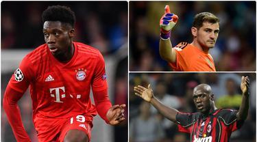 Bek Bayern Munchen, Alphonso Davies, tercatat sebagai salah satu pemain termuda yang merasakan gelar juara Liga Champions. Berikut 5 pemain termuda yang pernah meraih gelar juara Liga Champions. (kolase foto AFP)