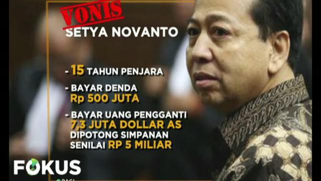 Setya Novanto akan bayar uang pengganti senilai 7,3 juta dolar Amerika dengan cara menyicil.