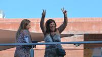 Ibu Cristiano Ronaldo, Dolores Aveiro (kanan). (AFP/Joana Sousa)