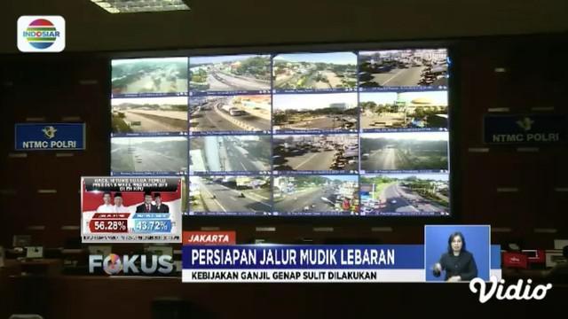 Polda Jawa Tengah buat skenario lalu lintas satu arah di Pintu Keluar Tol Brebes Timur, Brebes Barat, dan Pejagan saat arus mudik.