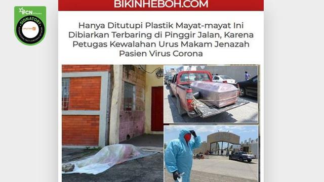 Cek Fakta Foto Jenazah Korban Corona Covid 19 Tertutup Plastik Di Jalanan Ekuador Cek Fakta Liputan6 Com