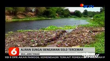 Aliran Sungai Bengawan Solo mengalami pencemaran berat. Dinas Lingkungan Hidup dan Kehutanan (DLHK) Provinsi Jawa Tengah menyebut pencemaran tersebut berbahaya.